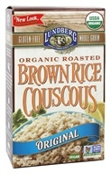 Image of Lundberg - Roasted Brown Rice Couscous Plain Original - 10 oz.