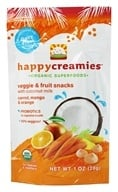 HappyBaby - Happy Creamies Organic Superfoods Veggie & Fruit Snacks Carrot, Mango & Orange - 1 oz. - $3.58