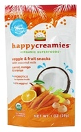 HappyBaby - Happy Creamies Organic Superfoods Veggie & Fruit Snacks Carrot, Mango & Orange - 1 oz. (853826003591)