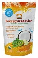 HappyBaby - Happy Creamies Organic Superfoods Veggie & Fruit Snacks Apple, Spinach, Pea, & Kiwi - 1 oz. (853826003584)