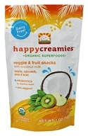 HappyBaby - Happy Creamies Organic Superfoods Veggie & Fruit Snacks Apple, Spinach, Pea, & Kiwi - 1 oz.