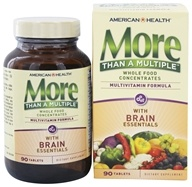 American Health - More Than A Multiple with Brain Essentials - 90 Tablets (076630512442)