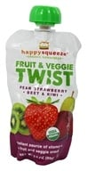 Happy Family - Happy Squeeze Organic SuperFoods Fruit and Veggie Twist Strawberry Kiwi Beet - 3.5 oz. (853826003386)