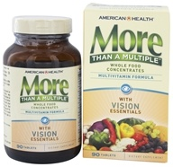 American Health - More Than A Multiple with Vision Essentials - 90 Tablets, from category: Vitamins & Minerals