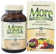 American Health - More Than A Multiple with Energy Essentials - 90 Tablets, from category: Vitamins & Minerals
