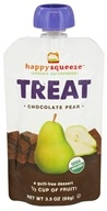 Image of Happy Family - Happy Squeeze Organic SuperFoods Treat Chocolate Pear - 3.5 oz.