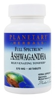 Planetary Herbals - Ashwagandha (Winter Cherry) Full Spectrum 570 mg. - 60 Tablet(s) - $6.05
