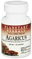 Planetary Herbals - Agaricus Full Spectrum 500 mg. - 30 Capsules, from category: Nutritional Supplements