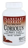 Planetary Herbals - Coriolus Full Spectrum 1000 mg. - 60 Tablet(s) - $23.26