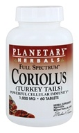 Image of Planetary Herbals - Coriolus Full Spectrum 1000 mg. - 60 Tablet(s)