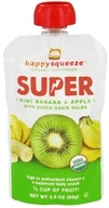 Happy Family - Happy Squeeze Organic SuperFoods Super Kiwi Banana & Apple - 3.5 oz., from category: Health Foods