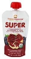 Happy Family - Happy Squeeze Organic SuperFoods Super Pomegranate Blueberry & Pear - 3.5 oz. (853826003331)