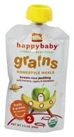 HappyBaby - Organic Baby Food Stage 2 Grains Homestyle Meals Ages 6+ Months Brown Rice Pudding - 3.5 oz. (853826003485)