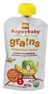 HappyBaby - Organic Baby Food Stage 2 Grains Homestyle Meals Ages 6+ Months Brown Rice Pudding - 3.5 oz.