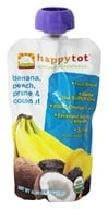 HappyBaby - Happy Tot Organic SuperFoods Banana, Peach, Coconut & Prune - 4.22 oz., from category: Health Foods