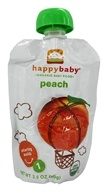 Image of HappyBaby - Organic Baby Food Stage 1 Starting Solids Peach - 3.5 oz.