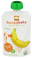 HappyBaby - Organic Baby Food Stage 1 Starting Solids Banana - 3.5 oz. (853826003416)