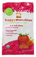 HappyBaby - Happy Munchies Organic SuperFoods Veggie and Fruit Crisps Strawberry & Carrot - 1 oz. (819573010220)
