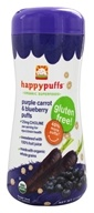 HappyBaby - Happy Puffs Organic SuperFoods Purple Carrot & Blueberry - 2.1 oz., from category: Health Foods