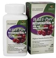 Genceutic Naturals - Wild & Pure Resveratrol 500 mg. Trans - 60 Vegetarian Capsules, from category: Nutritional Supplements