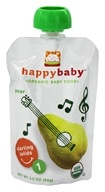 HappyBaby - Organic Baby Food Stage 1 Starting Solids Pear - 3.5 oz.