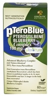 Genceutic Naturals - pTeroBlue Pterostilbene Blueberry Complex 100 mg. - 60 Vegetarian Capsules, from category: Nutritional Supplements