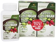 Genceutic Naturals - Green Coffee Bean Extract 400 mg. Bonus Pack 2 x 60 Vegetarian Capsules - $23.49