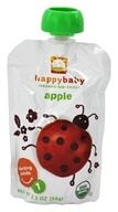 HappyBaby - Organic Baby Food Stage 1 Starting Solids Apple - 3.5 oz. by HappyBaby