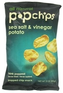 Popchip - Potato Chips All Natural Sea Salt & Vinegar - 3 oz. by Popchip