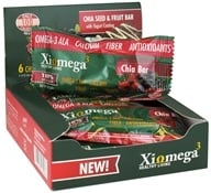 XiOmega - Chia Seed & Fruit Bar with Yogurt Coating - 6 x 0.9 oz Bars