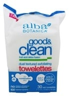 Alba Botanica - Good & Clean Exfoliating Towelettes Dual Textured - 30 Towelette(s) (724742007850)