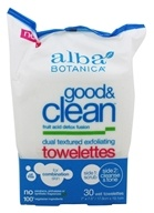 Alba Botanica - Good & Clean Exfoliating Towelettes Dual Textured - 30 Towelette(s) by Alba Botanica