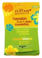 Alba Botanica - Hawaiian 3-In-1 Clean Towelettes Pineapple Enzyme - 10 Towelette(s) by Alba Botanica