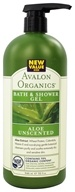 Avalon Organics - Bath & Shower Gel Aloe Unscented - 32 oz. (654749351987)