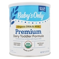 Nature's One - Baby's Only Organic Dairy Based Iron Fortified Toddler Formula with DHA and ARA - 12.7 oz. by Nature's One