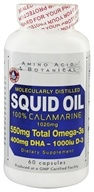 Amino Acid & Botanical - Squid Oil with Vitamin D - 60 Capsules by Amino Acid & Botanical