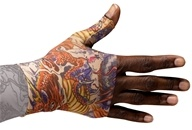 Image of LympheDIVAs - Gauntlet Right Class 1 Medium Lotus Dragon Tattoo
