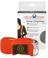Image of Natural Fitness - Hemp Yoga SlingStrap Flame - 6 ft.