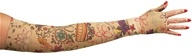 Image of LympheDIVAs - Arm Sleeve Class 1 Small Short with Diva Diamond Band Viva Vida