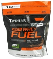 Twinlab - 100% Whey Fuel Pouch Double Chocolate - 13.4 oz. by Twinlab