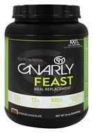 Image of Gnarly Nutrition - Feast Meal Replacement Grass Fed Chiseled Chocolate - 32 oz. CLEARANCED PRICED
