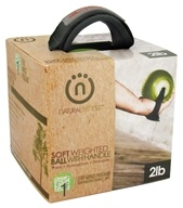 Image of Natural Fitness - Soft Weighted Ball With Handle Moss - 2 lb. CLEARANCED PRICED