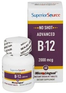 Superior Source - No Shot Advanced B12 Instant Dissolve 2000 mcg. - 60 Tablet(s) - $16.59