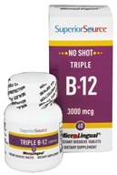Superior Source - No Shot Triple B12 Instant Dissolve 3000 mcg. - 60 Tablet(s) (076635910106)