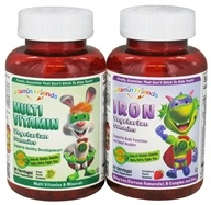 Image of Vitamin Friends - Iron 60 Gummies with Multi Vitamin 90 Gummies Bundle Pack