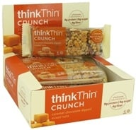 Think Products - thinkThin Crunch Bar Caramel Chocolate Dipped Mixed Nuts - 1.41 oz. (753656708799)