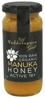 Wedderspoon Organic - 100% Raw Manuka Honey Premium Unpasteurized Active 16+ - 11.46 oz.
