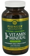 Pioneer - 1+ Vitamin Mineral Iron-Free - 120 Vegetarian Tablets by Pioneer