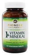 Image of Pioneer - 1+ Vitamin Mineral - 120 Vegetarian Tablets