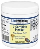 Image of Life Extension - L-Carnitine Powder Lemon 1000 mg. - 4.02 oz.